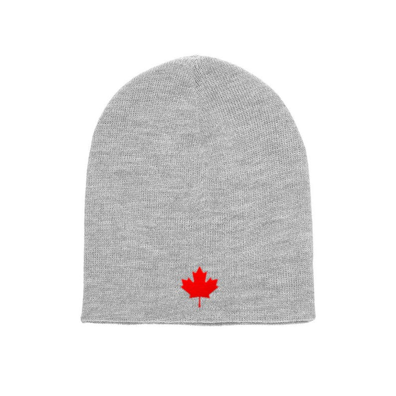 cfc79960a48 Canada Maple Leaf Flag Yupoong Adult Knit Canadian Beanie