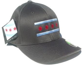 Grey Chicago Flag Hat