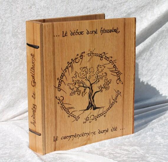 Livre D Or En Bois Pour Mariage Personnalisable Sur Commande