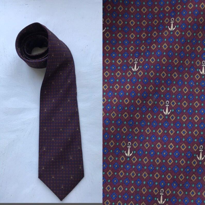 all'avanguardia dei tempi selezione più recente informazioni per Lanvin Vintage liens cravate, Ancre cravate, Lanvin, cravate en soie or  rouge, cravate Vintage, cravate, cravates, liens