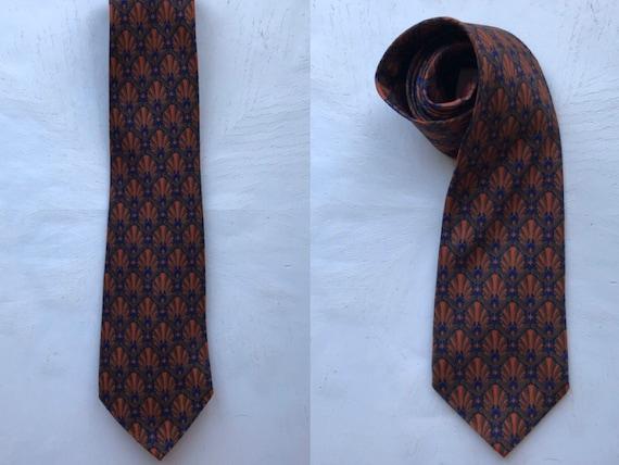 Vintage Balenciaga Silk Tie, Vintage Silk Necktie,