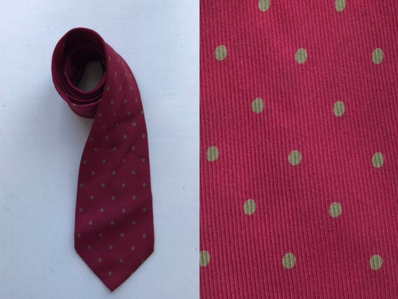 Vintage Fendi Silk Necktie, Fendi, Fendi Roma, Red