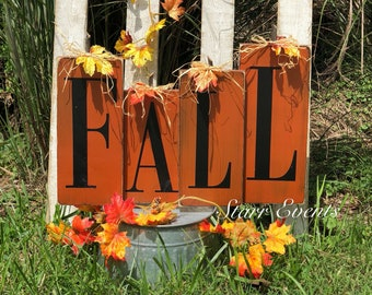 Rustic Fall Decorations Decor Primitive Signs Decorative Blocks Wood Pumpkins