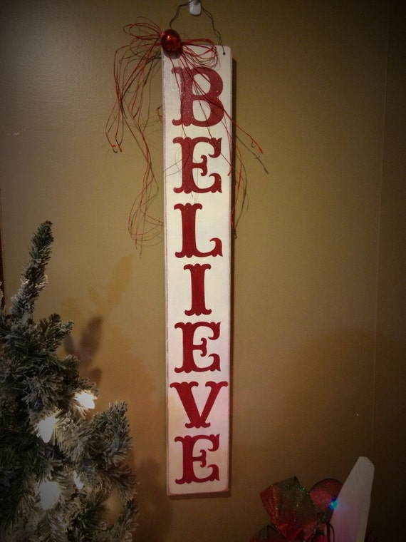 Believe Signs Decor Mesmerizing Believe Signs Christmas Sign Christmas Decor Christmas Etsy