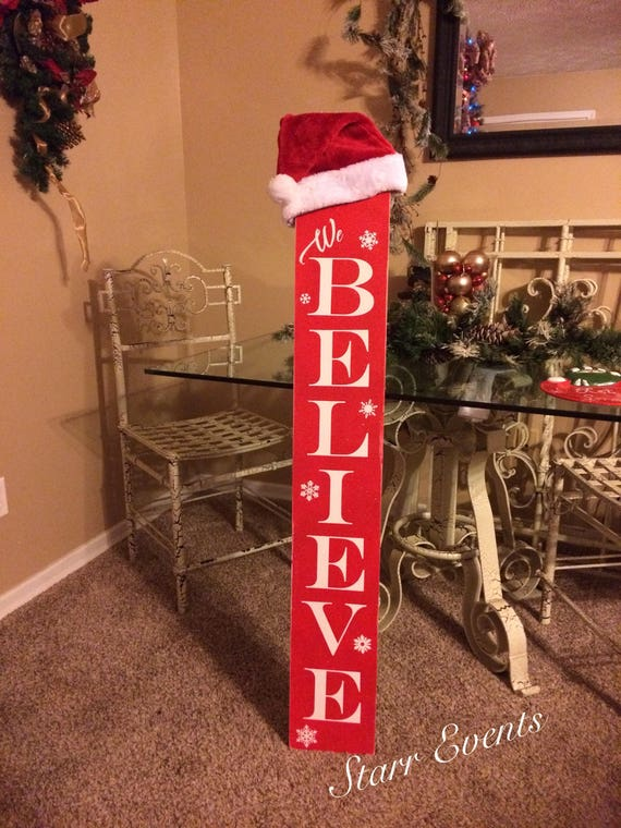 Believe Signs Decor Impressive Vertical Believe Signs Christmas Signs Christmas Decor Etsy