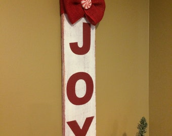 Joy sign. Christmas decorations. Christmas decor. Rustic Christmas sign. Rustic Joy sign Christmas signs. Distressed signs. Peppermint decor