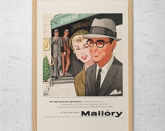 RESISTOL HAT AD Vintage Fashion Ad Mid Century Poster Mad Men Poster Mad Me