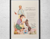 VINTAGE PEPSI AD - Retro Mid-Century Ad - Cute Poodle Poster, Retro Ad, Vintage Pepsi Cola Ad, 50 39 s Wall Art, Retro Wall Art, Retro Kitsch