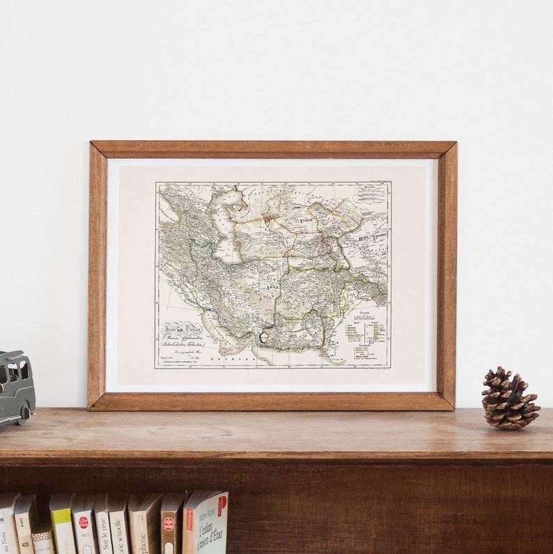 ANCIENT PERSIA MAP Map of Iran and Turan Historical | Etsy