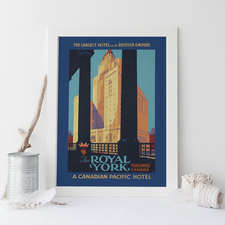 Art-Deco Poster Art-Deco Print TORONTO Kanada Reisen Poster