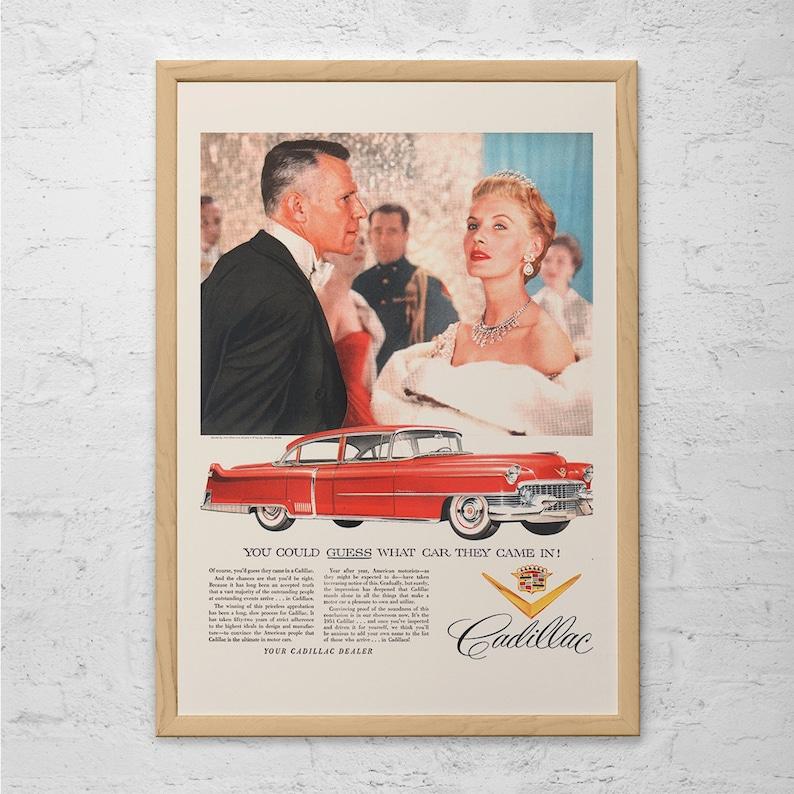 Affiche Années Ad Voiture Cadillac Des Vintage AfficheDe Ad 1950Luxe RétroClassique iXkuPZ
