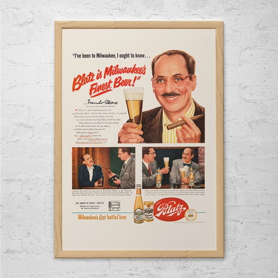 Guinness 7 Men Old Advert Vintage Beer Picture Colorful Funny Retro Pub Poster