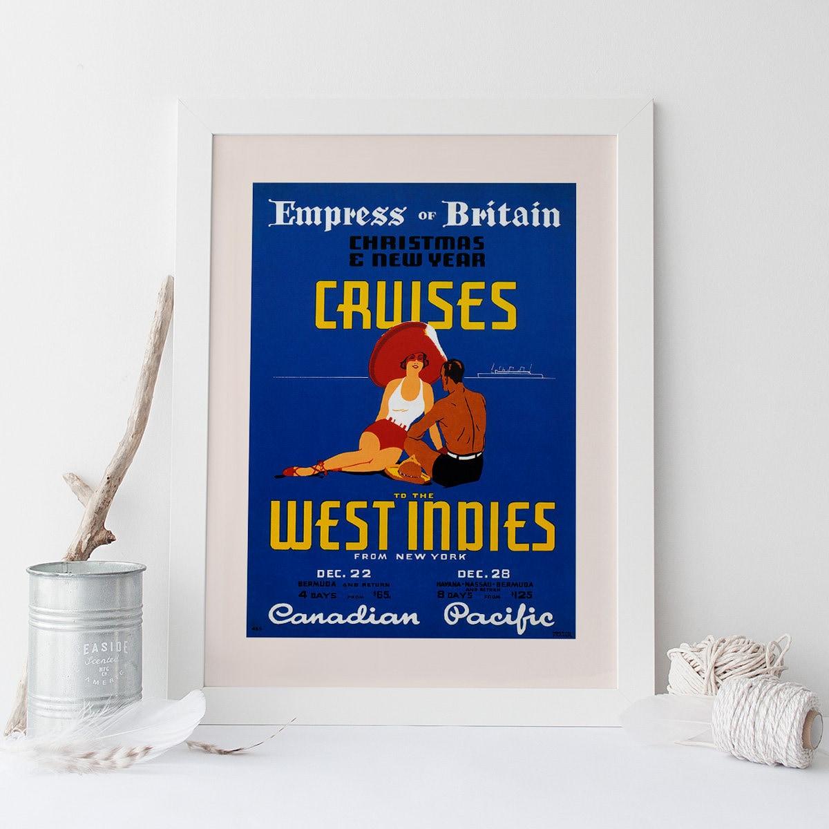 KANADISCHER Pazifik POSTER Westindischen Schiff Poster   Etsy