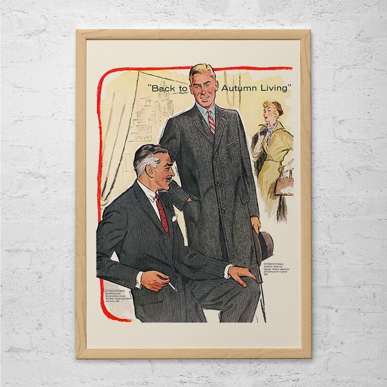 Gentlemen Fashion Ad Retro Mid Century Fashion Ad Vintage Etsy