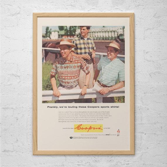 Retro Mens Fashion Ad Retro Mid Century Ad Vintage Horse Etsy