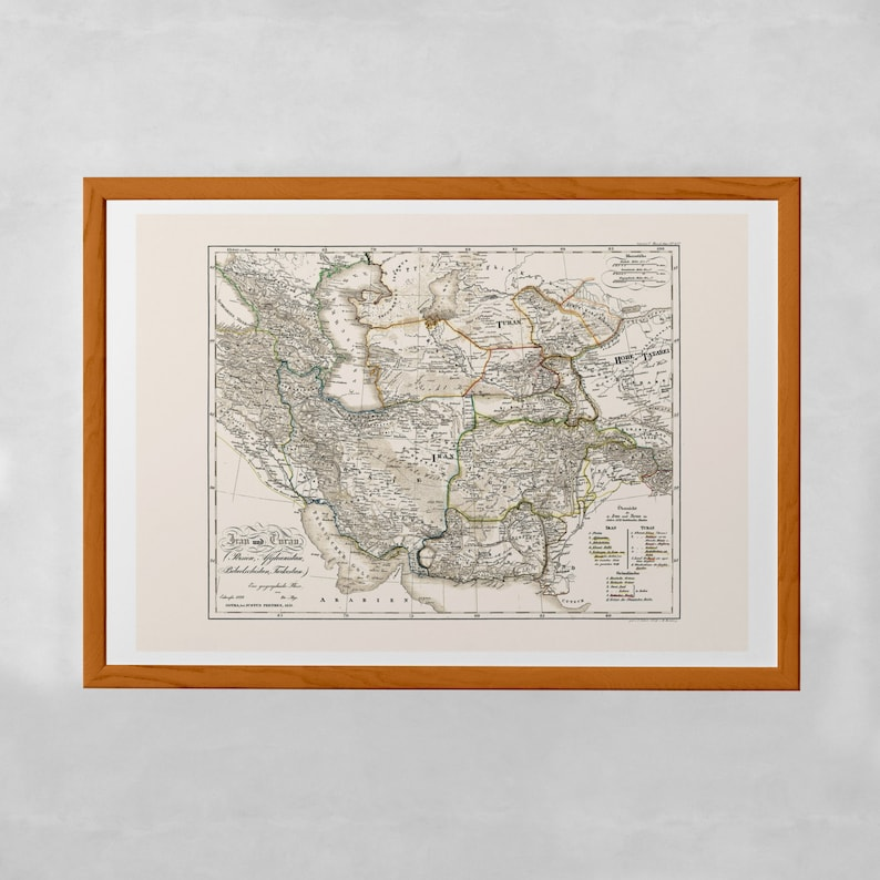 ANCIENT PERSIA MAP - Map of Iran and Turan, Historical Persia Map, Antique  Map Wall Art, Professional Reproduction