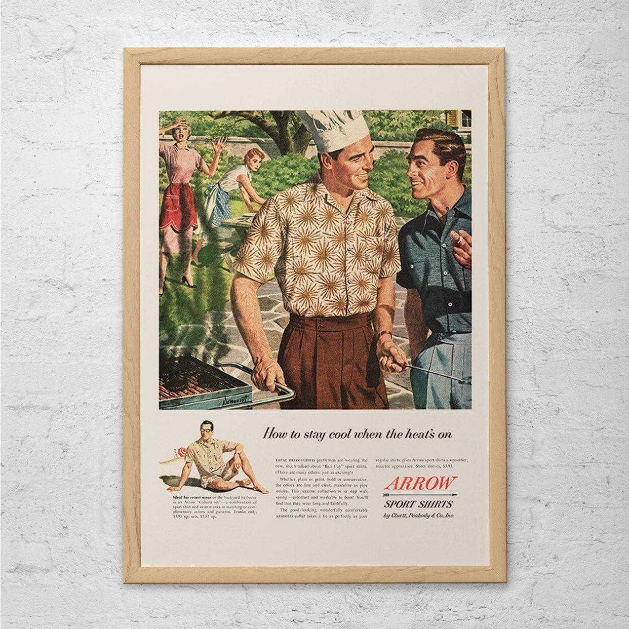 Mens Fashion Ad Retro Mid Century Arrow Ad Vintage Fashion Etsy