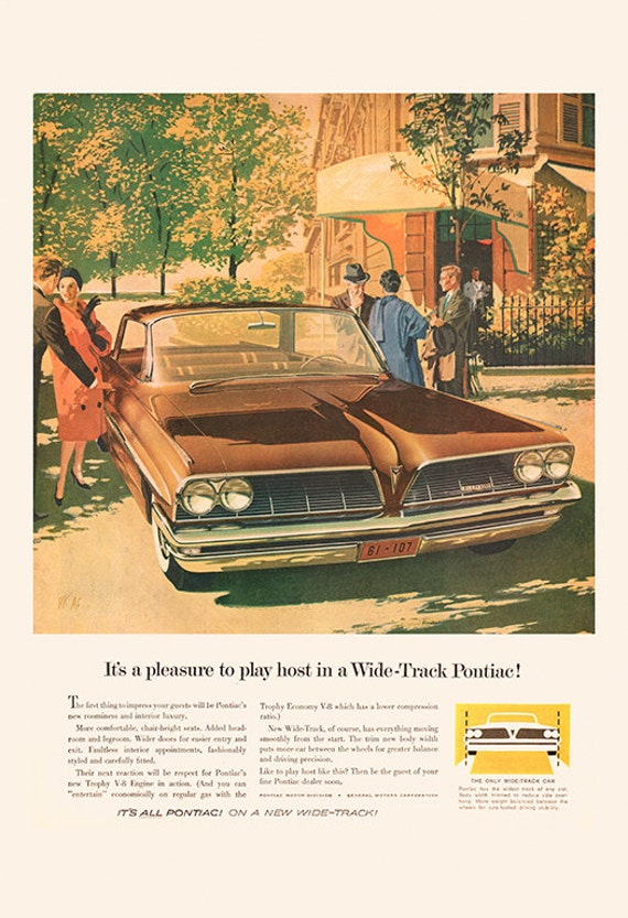 RETRO VOLKSWAGON BEETLE Ad Classic Car Poster Mid-Century Poste Retro Car Ad