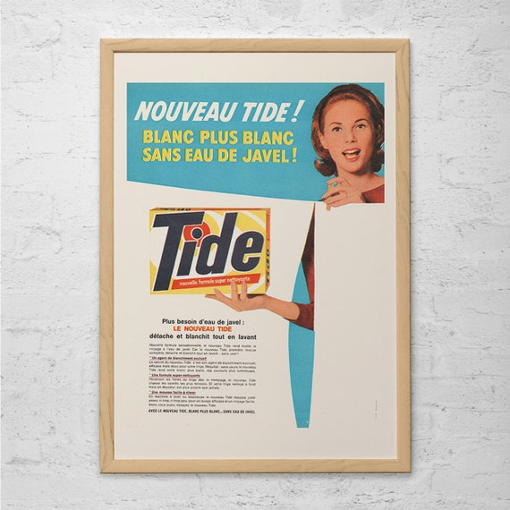 Laundry Detergent Poster Laundry Room Poster Mid Century Etsy