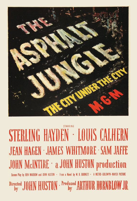 Image result for asphalt jungle poster""