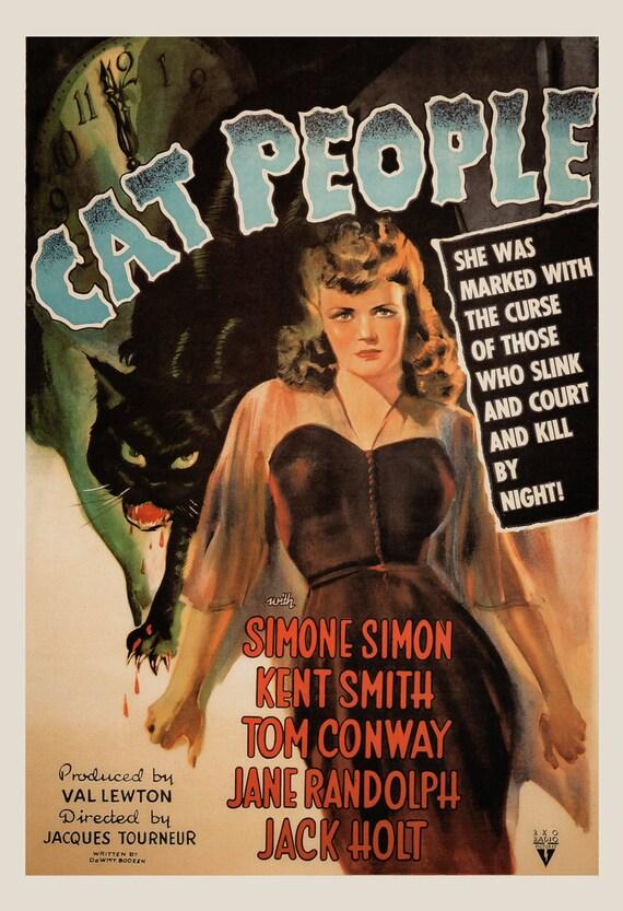 Cat People Classic American Horror Movie Film Retro Vintage Advert Poster