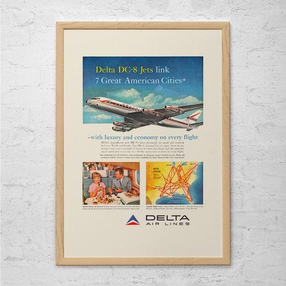 """Pan American Air Lines 8.5/"""" X 11/""""  Travel Poster - YUCATAN -"""