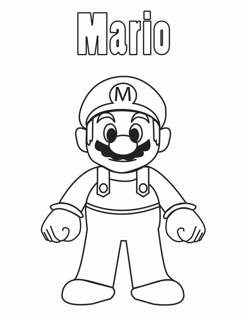Mario & Friends Coloring Book Instant Download   Etsy