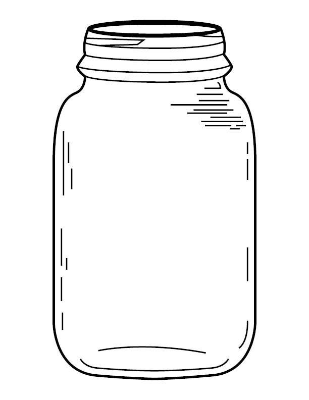 Mason Jar Coloring Page | Etsy