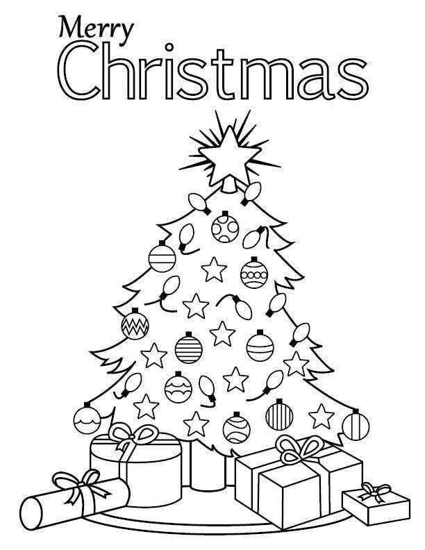 Christmas Coloring Page Merry Christmas
