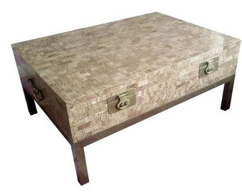 Maitland Smith Tessellated Stone Coffee Table