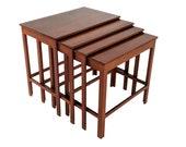 Set of 4 Nesting Tables by Peter Hvidt Orla Mølgaard for France Daverkosen
