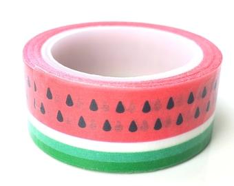 Watermelon washi tape | watermelons | fruit washi tape