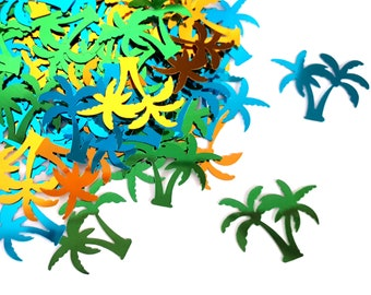 Palm tree confetti | palm trees | summer party | table decoration | shaker