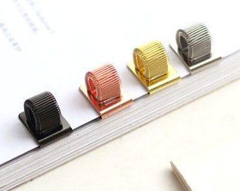 Metal Spring clip Pen Holder | Pen Clip | pen loop | gold, rose gold, black or silver