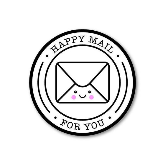 Happy Mail Envelope Package StickersConfetti Stickers