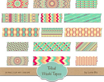 "Digital Washi Tape: ""Tribal washi tape clipart"", tribal clipart, washi clipart, arrows clipart, washi scrapbook, scrapbook embellishments"