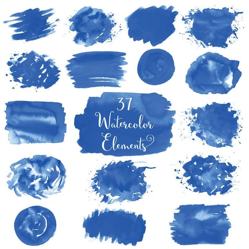 Watercolor Splash Clipart Blue Watercolor Brush Strokes Blue Watercolor Splashes Splash Clip Art Watercolor Splotches Watercolor Logo