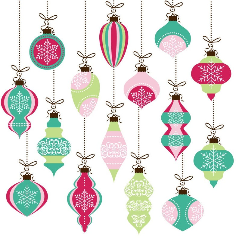 Christmas Clipart Christmas Ornaments Clipart Christmas Baubles Xmas Clipart Xmas Ornament Clipart Christmas Graphics Holiday Clipart