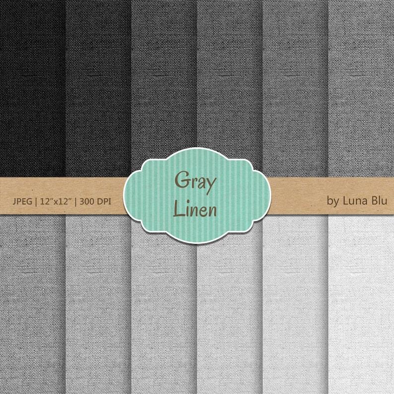 Linen Digital Paper: Gray Linen gray textures image 0