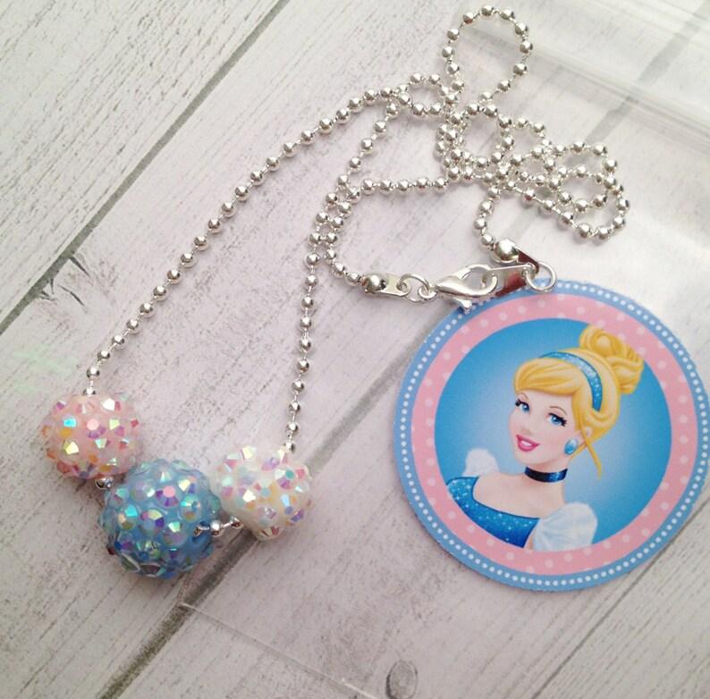 Cinderella Sparkle Necklaces Cinderella Birthday Party Favor Cinderella Birthday or Slumber Party Favors Cinderella Necklace Favor 6