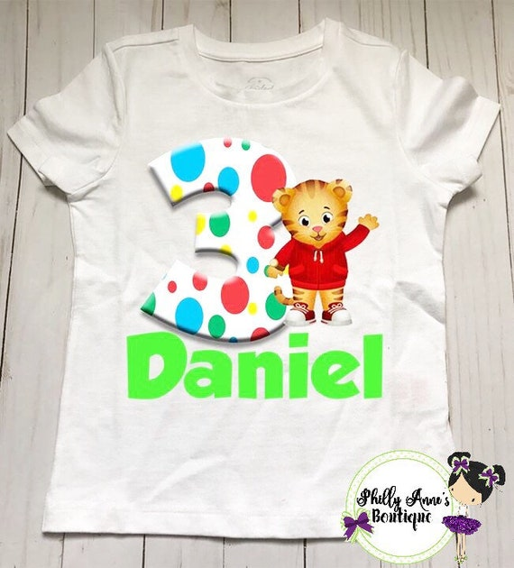 Daniel Tiger Birthday Shirt Boys Girls