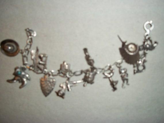 Sterling charm bracelet 1940's