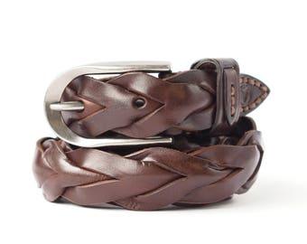 Leather Belt Women's Men's Unisex Handmade Unique Belts, Designer Belt on Sale Vita Gordievska