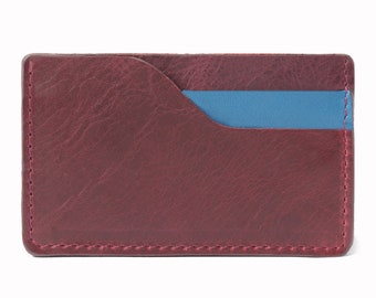 Cardholder SLIM leather wallet small purse man women unisex handmade gift father's day