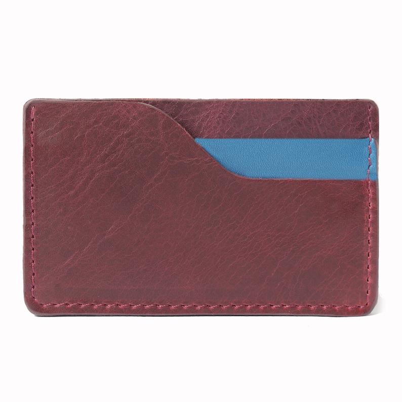 Cardholder SLIM leather wallet small purse man women unisex image 0