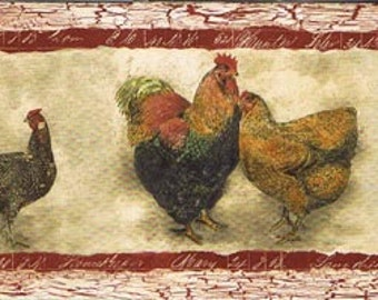 Hen Rooster SP76453N Wallpaper Border