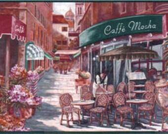 Paris Caffe Mocha Cappuccino NV3232B Wallpaper Border
