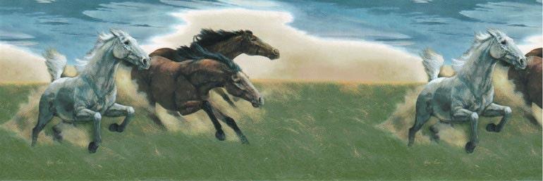 Horse Field 75B56821 Wallpaper Border
