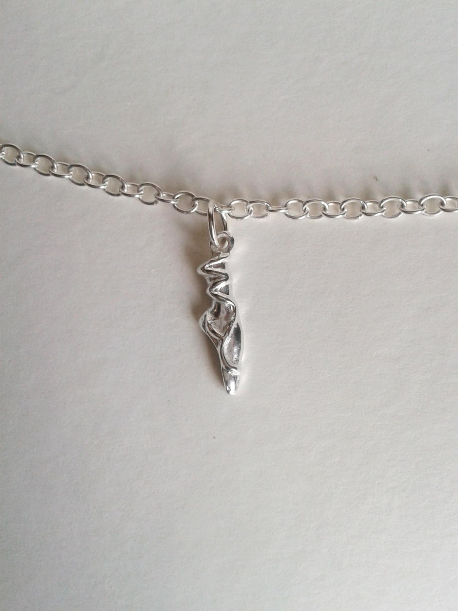 handmade ballet shoe charm, silver en-point ballet shoe on sterling silver bracelet, girls christening gift, dancers present, uk