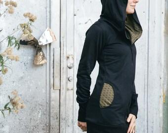 Kimama Hooded Sweat Jacket, Sweater, Alternative Wear, Flower of Life, Psy